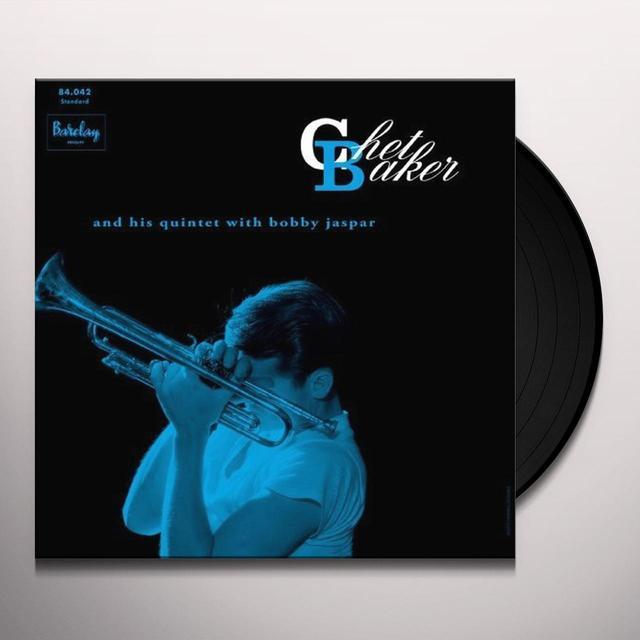CHET BAKER & HIS QUINTET WITH BOBY JASPAR Vinyl Record - Spain Import