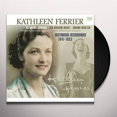 Kathleen Ferrier HISTORICAL RECORDINGS 1947-1952 Vinyl Record - Holland Import