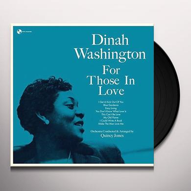 Dinah Washington FOR THOSE IN LOVE + 2 BONUS TRACKS Vinyl Record