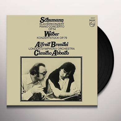 Alfred Brendel SCHUMANN PIANO CONCERTO IN A MINOR / WEBER: KONZER Vinyl Record