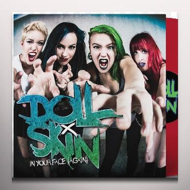 DOLL SKIN IN YOUR FACE (AGAIN) Vinyl Record - Colored Vinyl, Red Vinyl