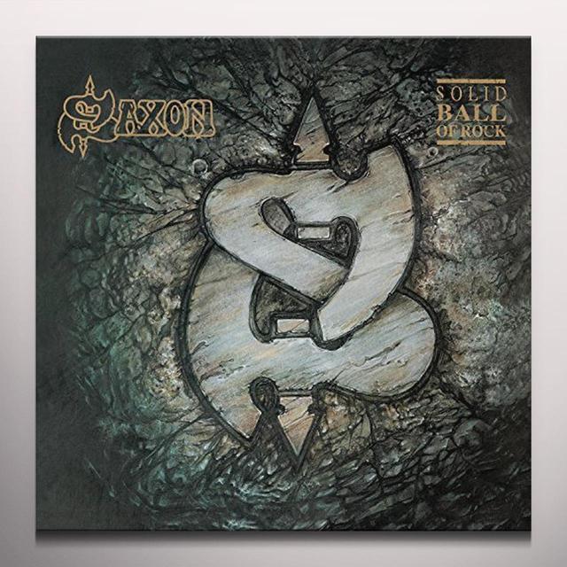 Saxon SOLID BALL OF ROCK Vinyl Record - Colored Vinyl, UK Import