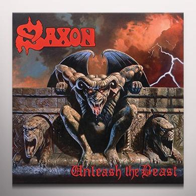 Saxon UNLEASH THE BEAST Vinyl Record - Colored Vinyl, UK Import