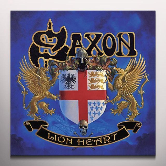 Saxon LIONHEART Vinyl Record - Colored Vinyl, UK Import