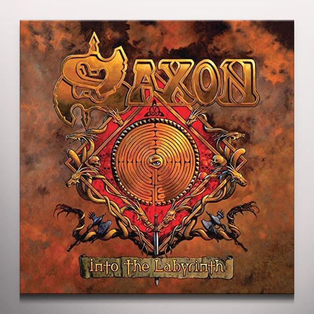 Saxon INTO THE LABYRINTH Vinyl Record - Colored Vinyl, UK Import