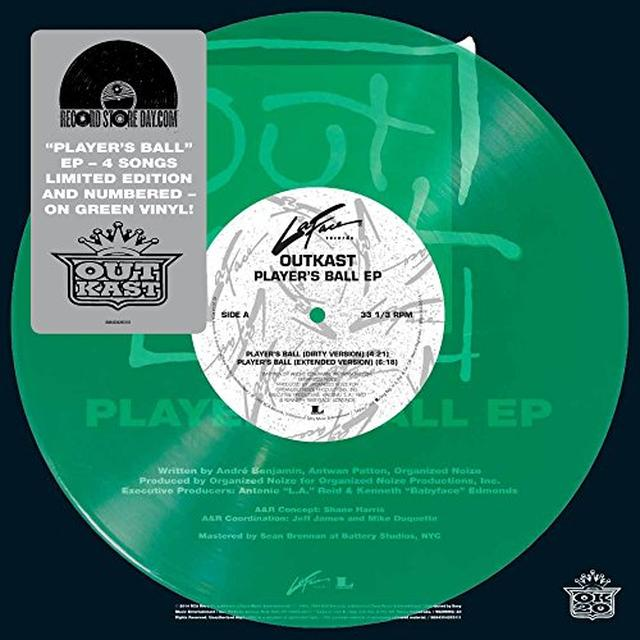 Outkast PLAYERS BALL (GREEN VINYL) Vinyl Record - Colored Vinyl, Green Vinyl, Canada Import