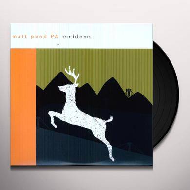 Matt Pond Pa EMBLEMS Vinyl Record - Canada Import