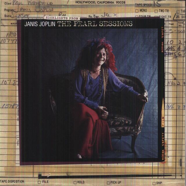 Janis Joplin HIGHLIGHTS FROM THE PEARL SESSIONS Vinyl Record - Canada Import