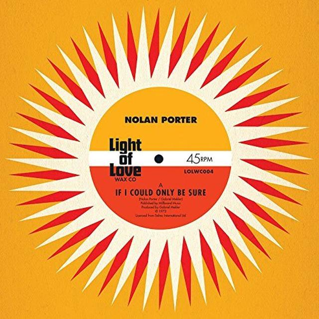 Nolan Porter IF I COULD ONLY BE SURE Vinyl Record - UK Import