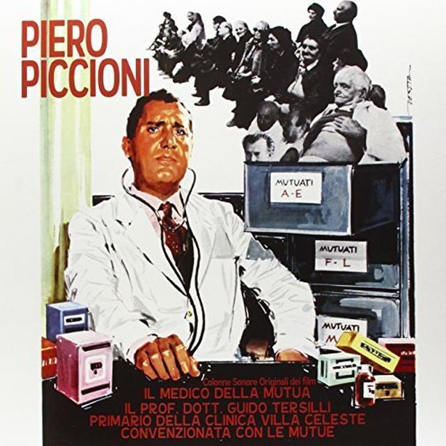 Piero Piccioni IL MEDICO DELLA MUTUA / IL PROF. DOTT. GUIDO TERSI Vinyl Record