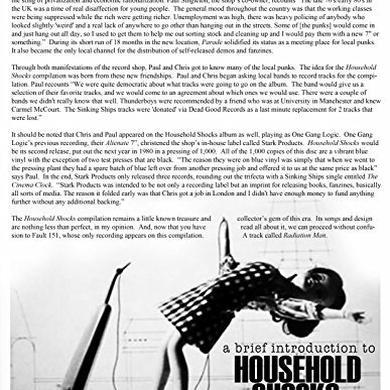 HOUSEHOLD SHOCKS / VARIOUS Vinyl Record