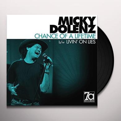 Micky Dolenz CHANCE OF A LIFETIME / LIVIN ON LIES Vinyl Record - UK Import