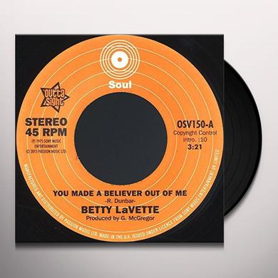 Betty Lavette YOU MADE A BELIEVER OUT OF ME / THANK YOU FOR Vinyl Record