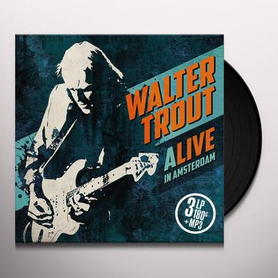Walter Trout ALIVE IN AMSTERDAM Vinyl Record - 180 Gram Pressing, Digital Download Included