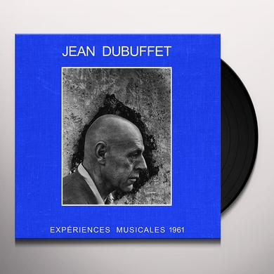 Jean Dubuffet EXPERIENCES MUSICALES 1961 Vinyl Record