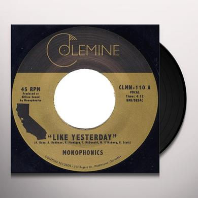 Monophonics LIKE YESTERDAY Vinyl Record