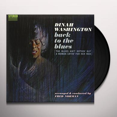 Dinah Washington BACK TO THE BLUES Vinyl Record