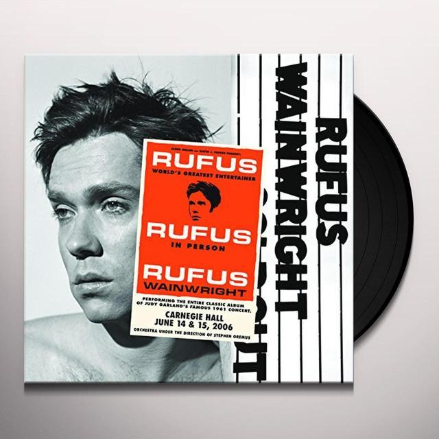 Rufus Wainwright RUFUS DOES JUDY AT CARNEGIE HALL Vinyl Record - Gatefold Sleeve
