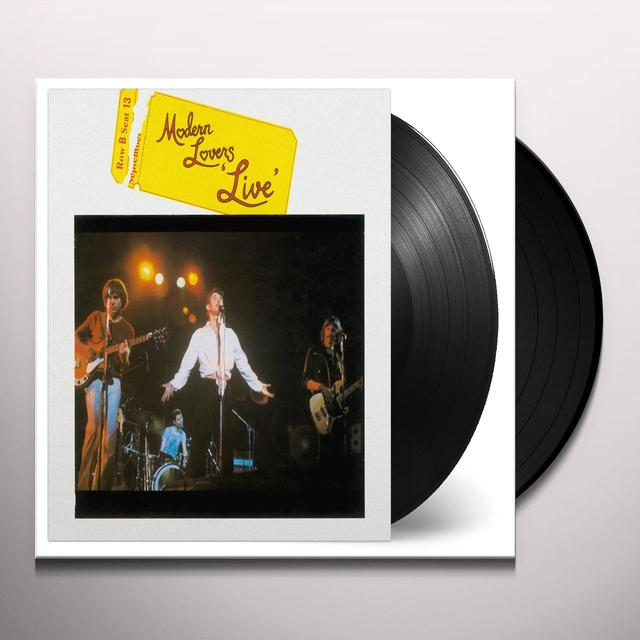 Modern Lovers LIVE Vinyl Record - 180 Gram Pressing
