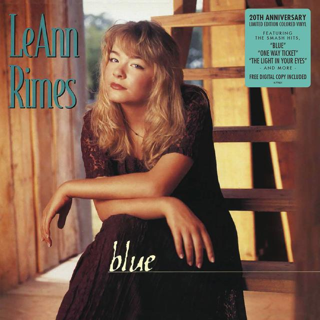 LeAnn Rimes BLUE - 20TH ANNIVERSARY EDITION Vinyl Record - Blue Vinyl, Colored Vinyl