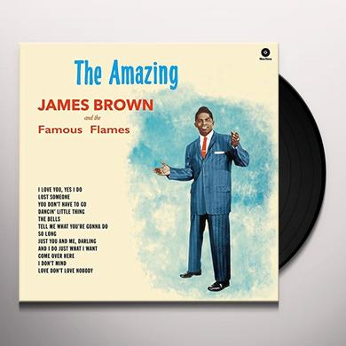 AMAZING JAMES BROWN + 4 BONUS TRACKS Vinyl Record - 180 Gram Pressing, Spain Import