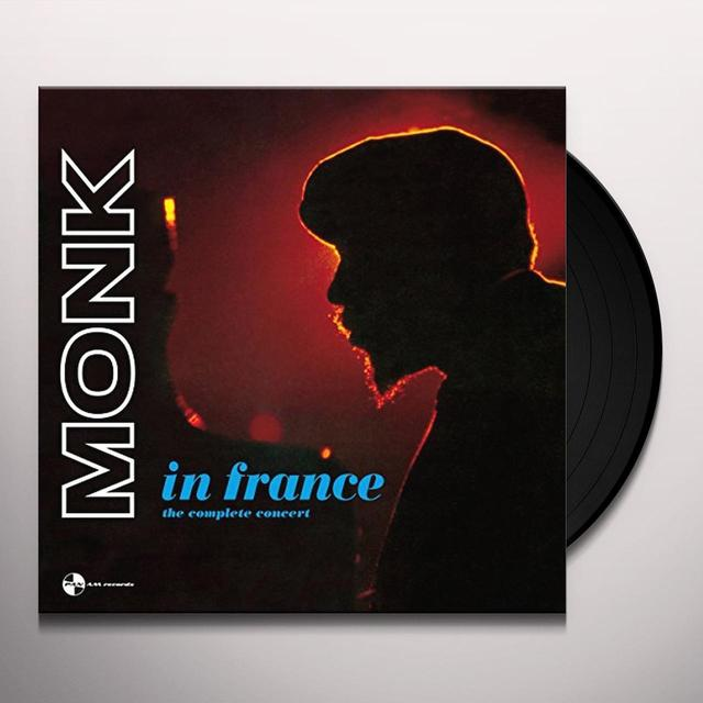 Thelonious Monk IN FRANCE: COMPLETE CONCERT Vinyl Record - 180 Gram Pressing, Spain Import