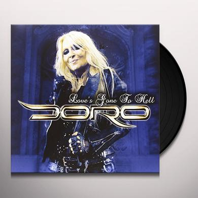 Doro LOVE'S GONE TO HELL - BLUE Vinyl Record - Holland Import