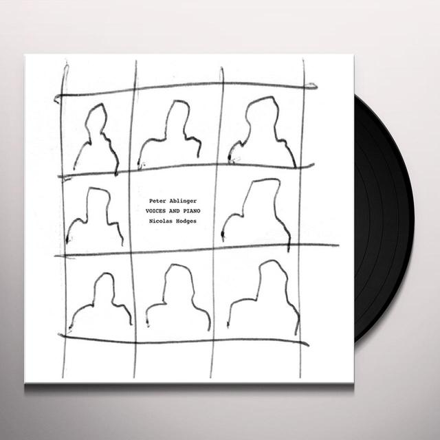Peter Ablinger VOICES AND PIANO Vinyl Record