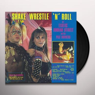 EXOTIC ADRIAN STREET & PILE DRIVERS SHAKE WRESTLE 'N' ROLL Vinyl Record