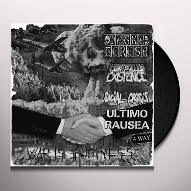 SOCIAL CRISIS/ ULTIM RAUSEA / MATA TERESA/ CONTROL WAR IS BUSINESS - 4 WAY SPLIT Vinyl Record