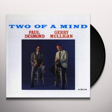 Paul Desmond / Gerry Mulligan TWO OF A MIND Vinyl Record - 180 Gram Pressing