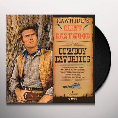 RAWHIDE'S CLINT EASTWOOD SINGS COWBOY FAVORITES Vinyl Record