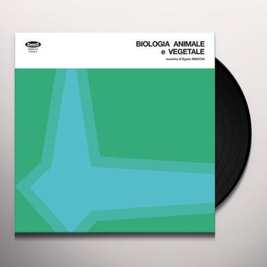 Egisto Macchi BIOLOGIA ANIMALE E VEGETALE Vinyl Record - Italy Import