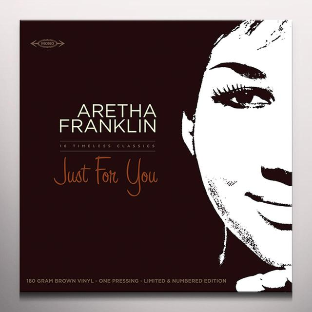 Aretha Franklin JUST FOR YOU Vinyl Record - Brown Vinyl, Limited Edition, 180 Gram Pressing