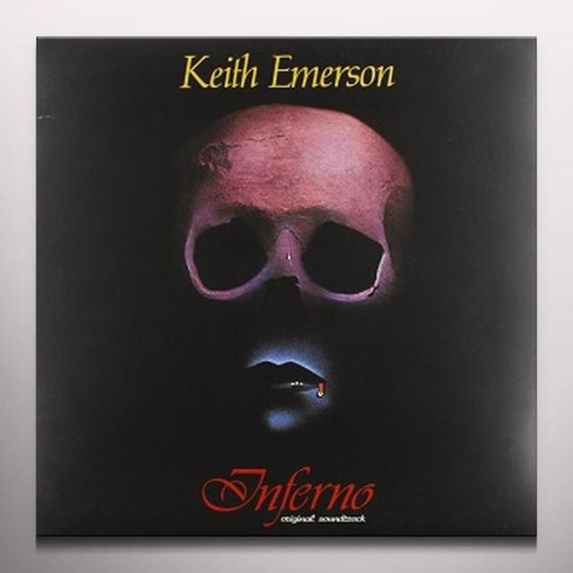 Keith Emerson INFERNO Vinyl Record - Limited Edition, Red Vinyl, Poster