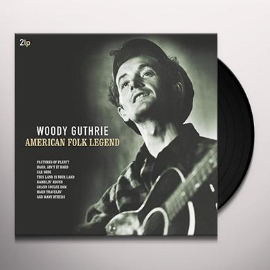 Woody Guthrie AMERICAN FOLK LEGEND Vinyl Record