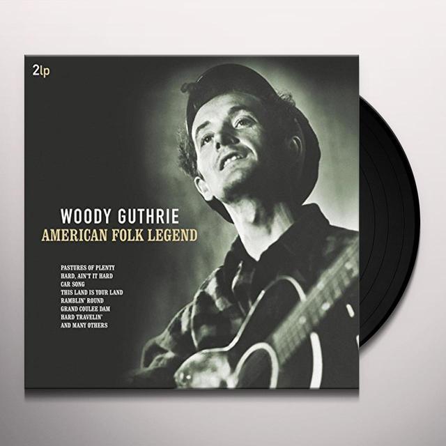 Woody Guthrie AMERICAN FOLK LEGEND Vinyl Record - Holland Import