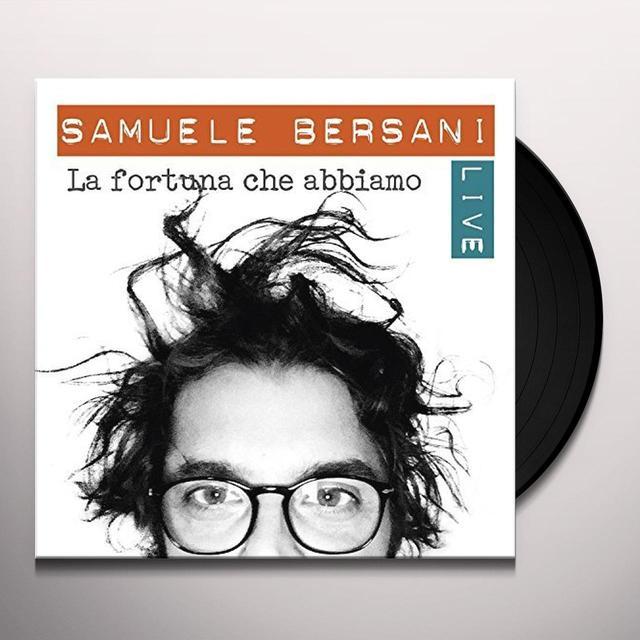 Samuele Bersani LA FORTUNA CHE ABBIAMO: LIVE Vinyl Record - Italy Import