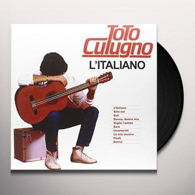 Toto Cotugno L'ITALIANO Vinyl Record - Italy Import