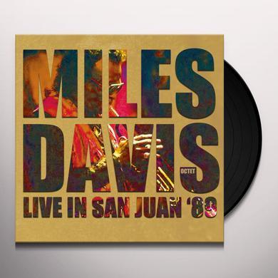 Miles Octet Davis LIVE IN SAN JUAN '89 Vinyl Record