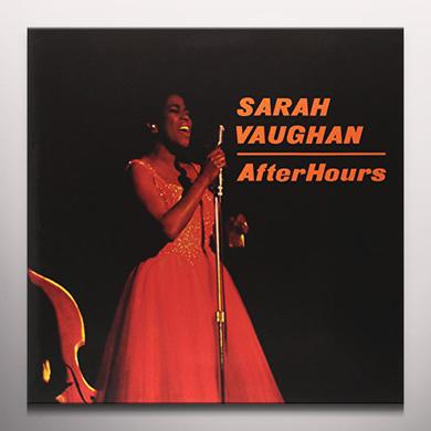 Sarah Vaughan AFTER HOURS Vinyl Record - Colored Vinyl, 180 Gram Pressing