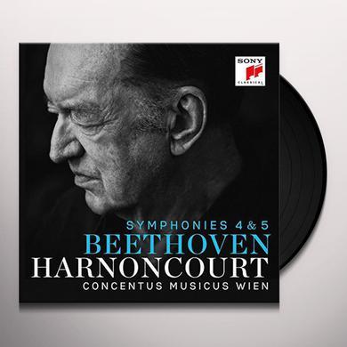 Beethoven / Nikolaus Harnoncourt BEETHOVEN: SYMPHONIES 4 & 5 Vinyl Record
