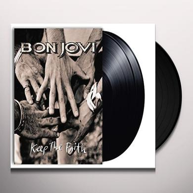 Bon Jovi KEEP THE FAITH Vinyl Record - UK Release