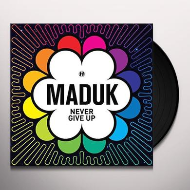 Maduk NEVER GIVE UP Vinyl Record - Canada Import