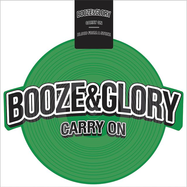 Booze & Glory CARRY ON Vinyl Record - Green Vinyl, White Vinyl
