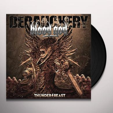 DEBAUCHERY VS BLOOD GOD THUNDERBEAST Vinyl Record