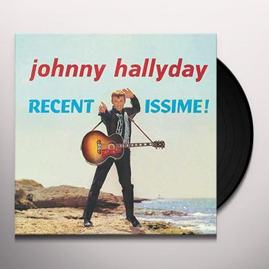 Johnny Hallyday RECENTISSIME Vinyl Record - Canada Import