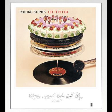 ROLLING STONES: LET IT BLEED LITHOGRAPH Vinyl Record