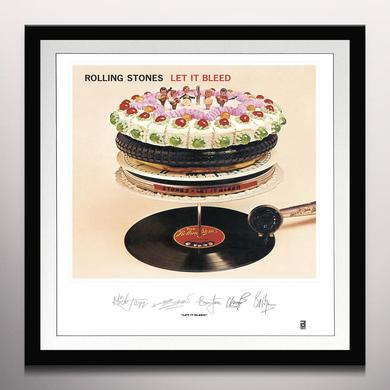 ROLLING STONES: LET IT BLEED LITHOGRAPH Vinyl Record - Clear Vinyl