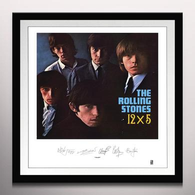 ROLLING STONES: 12X5 LITHOGRAPH  (FRAM) Vinyl Record - Clear Vinyl